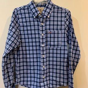 Hollister Button Down Plaid Long Sleeve Shirt